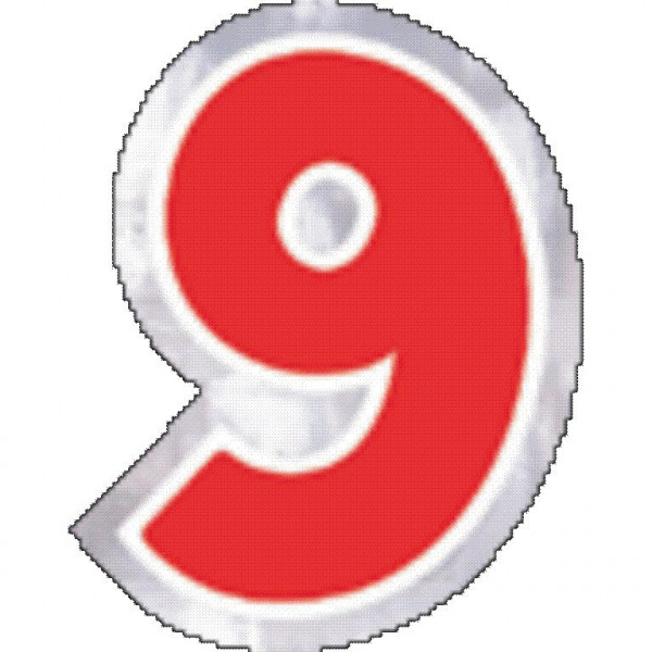 48 balloon sticker number 9