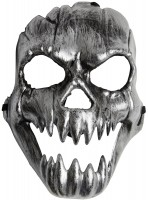 Creepy Silver Skull Maske