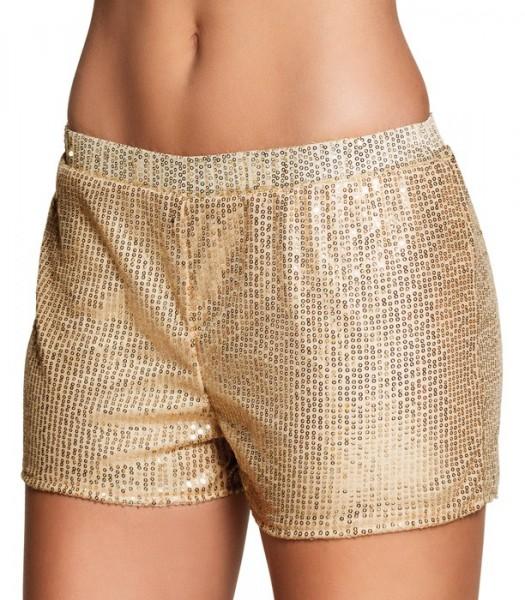Goldene Pailletten Hotpants