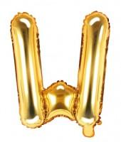 Folienballon W gold 35cm