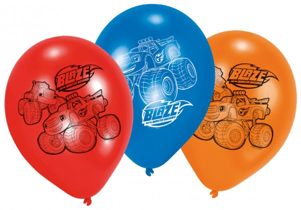 6 Globos Blaze And The Monster Machines