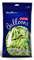 100 Partystar metallic Ballons maigrün 12cm