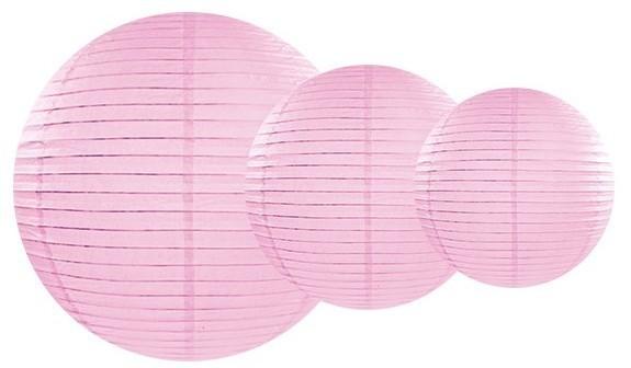 Bella lanterna di carta rotonda rosa 20cm