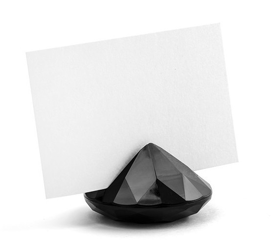 Porte-cartes 10 diamants noir 4cm
