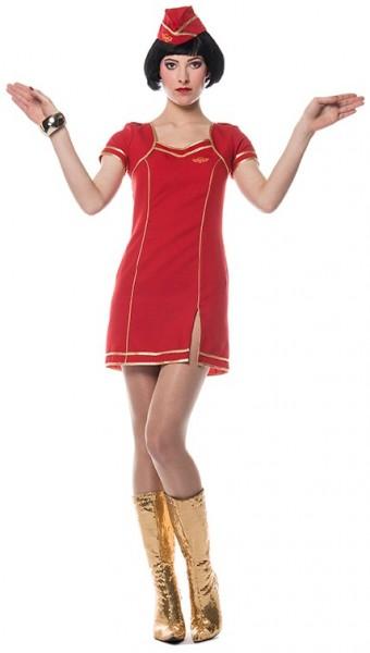 Rotes Stewardessenkostüm Cindy Für Damen