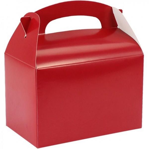 Confezione regalo rettangolare rossa 15 cm