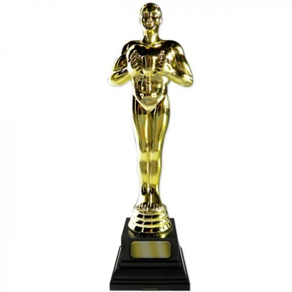 Golden Oscar statue cardboard display 1.82m