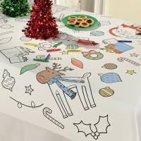 Weihnachtswelt Tischdecke zum Bemalen 1,2m x 91cm