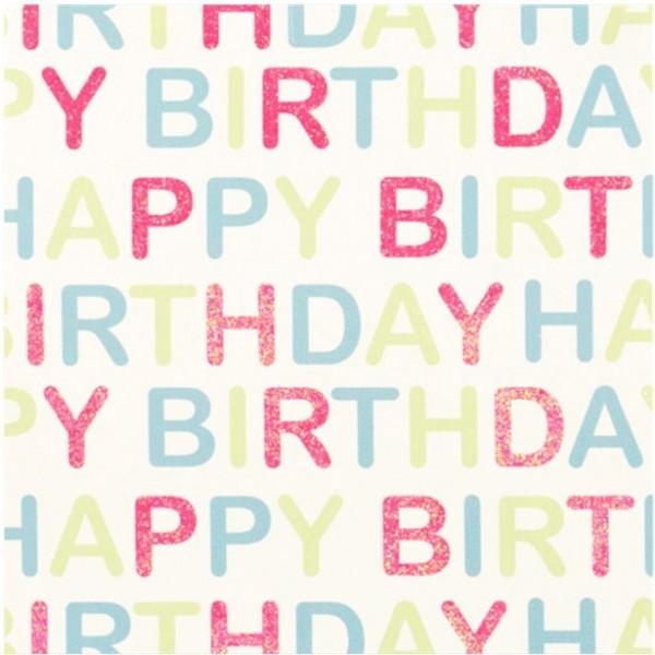 Glitter Geschenkpapier Happy Birthday