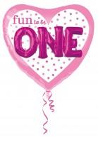 Ballon coeur amusant d'être un en rose