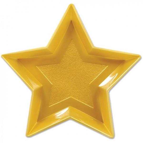 Servierteller golden Star 33cm