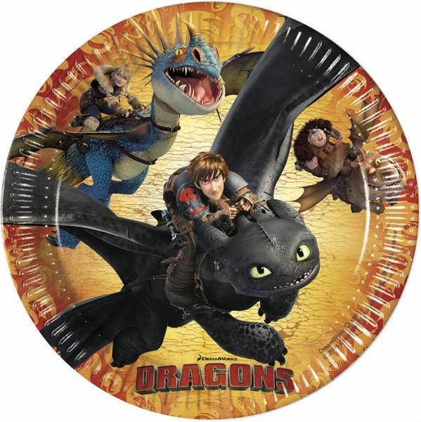 8 Dragons Pappteller 23cm