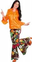 Hippie Damen Schlaghose Bunt
