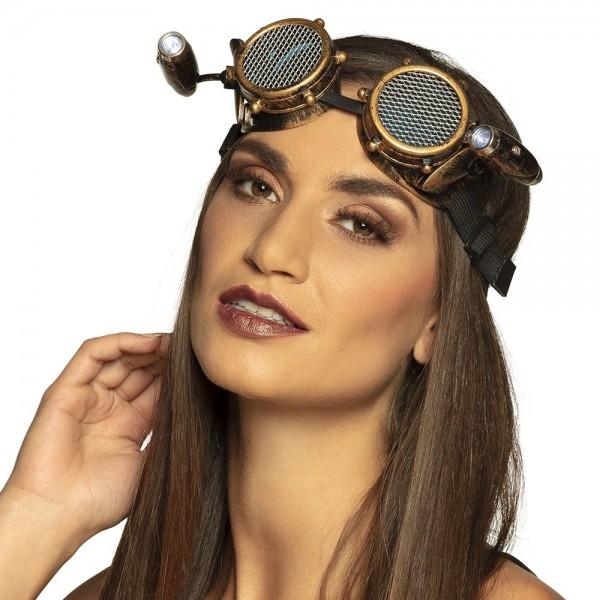 Gafas Steampunk con lámparas
