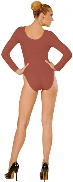 Body clásico para mujer marrón