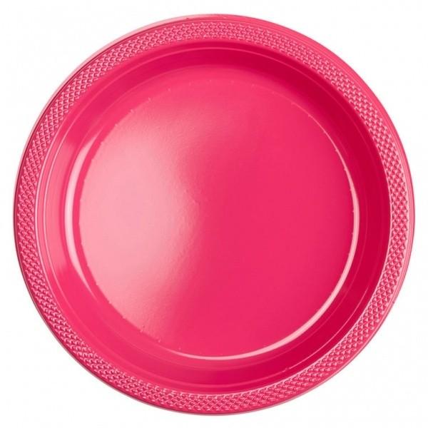 10 Kunststoffteller Mila pink 23cm