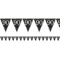 Strahlender 90. Geburtstag Girlande 4m
