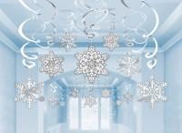30 Schneeflocken Land Spiralhänger