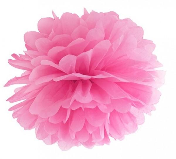 Pompon Romy rose 35cm