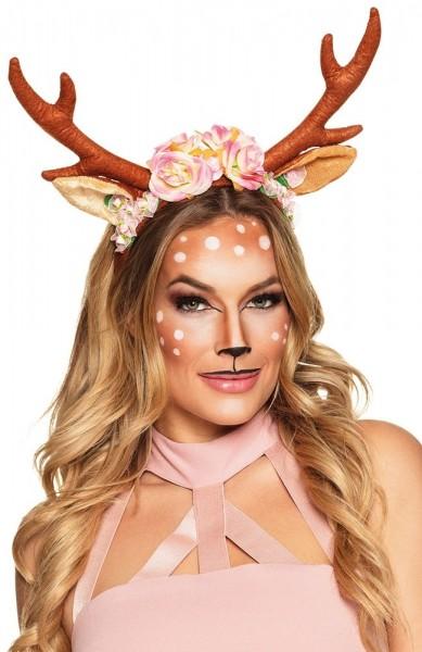 Cute deer headband with flowers