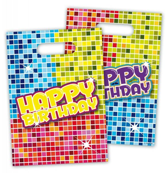 6 bolsas de regalo Groovy Happy Birthday