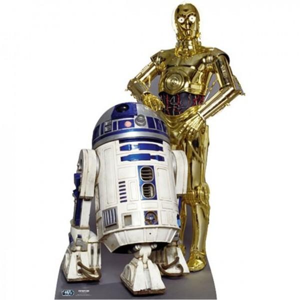 Star Wars R2D2 und C3PO Pappaufsteller 166cm