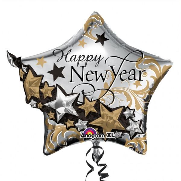Ballon étoile de luxe Nouvel An 69 x 61 cm