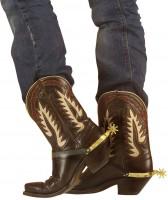 Goldene Cowboystiefel Sporen