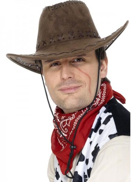 Cowboyhut Im Wildleder-Look