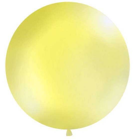 Ballon XXL géant ziron jaune 1m