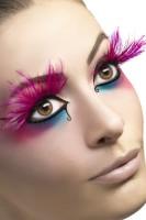 Feder Wimpern In Pink