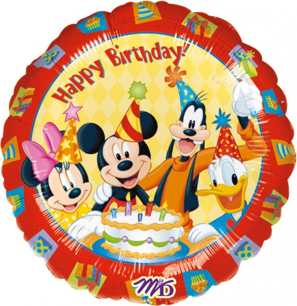 Birthday Party Mickey Mouse Foil Balloon