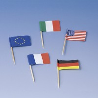 50 Internationale Flaggen Spieße