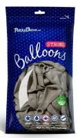 100 Partystar Luftballons hellgrau 27cm