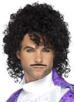 Perruque étoile des années 80 avec moustache