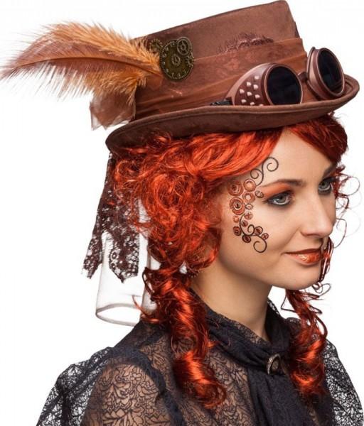 Steampunk Damenhut Mit Brille