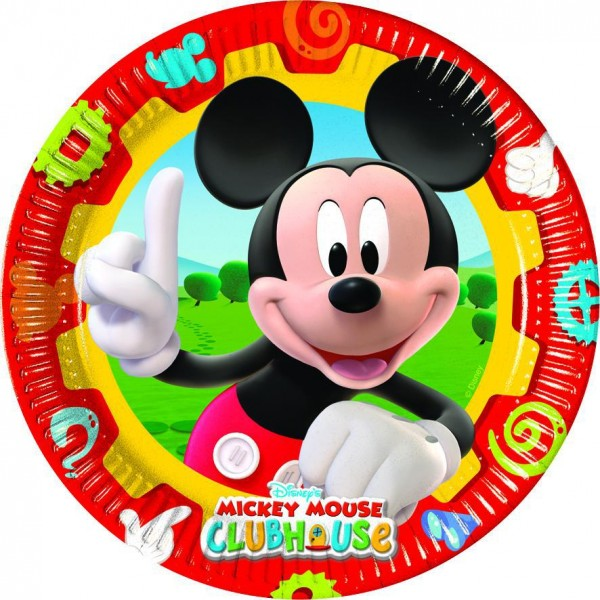 10 Mickey Mouse Clubhouse Pappteller 23cm