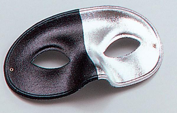 Black and silver phantom eye mask
