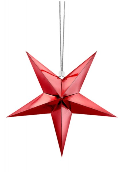 3D Christmas Star Red 30cm