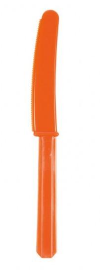 10 party buffetmessen oranje 17.2cm
