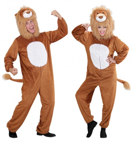 Lion costume made of plush for women and men