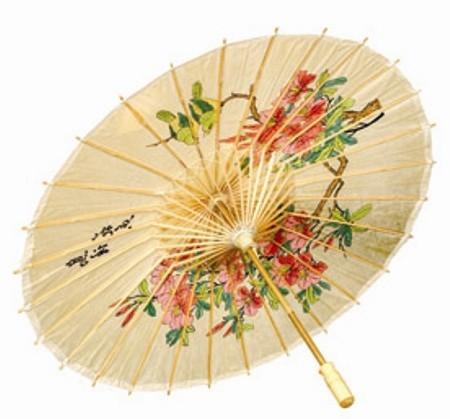 Traditioneller asiatischer Bambusschirm