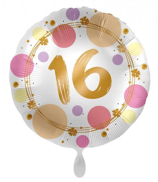 16. Geburtstag Ballon Happy Dots 71cm