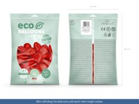 100 Eco Pastell Ballons rot 30cm