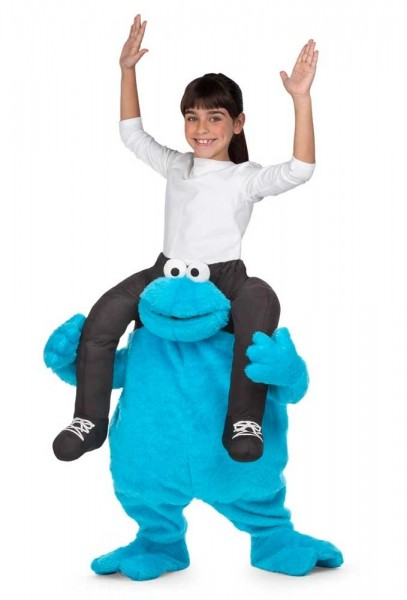 Krümelmonster Huckepack Kinder Kostüm
