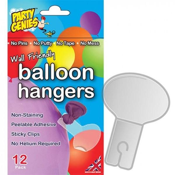 12 ganci per palloncini trasparenti