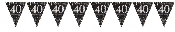 Golden 40th Birthday pennant chain 4m