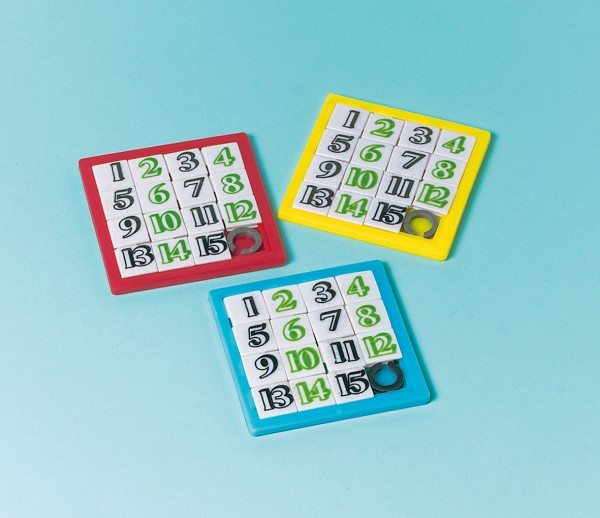 Buntes Rätselspaß Schiebe Puzzle Mit Zahlen 12 Stück