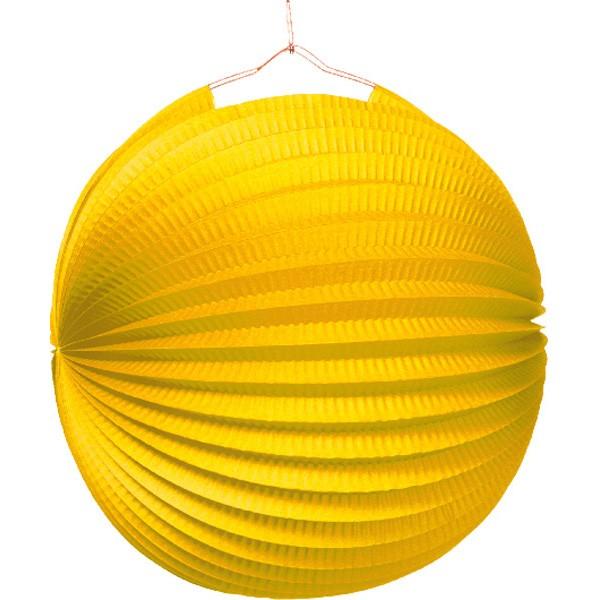 Garden party paper lantern sun yellow 25cm