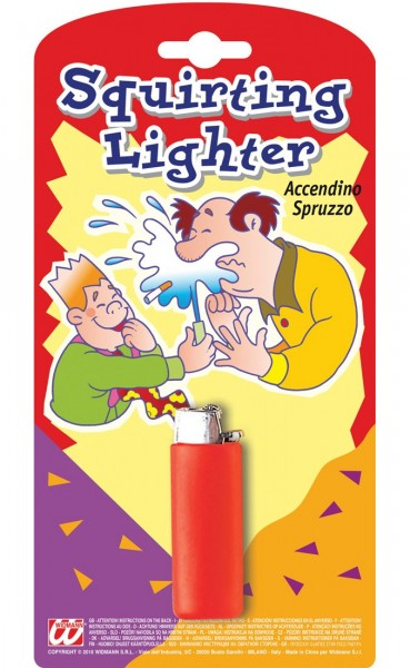 Wasserspritzendes Feuerzeug Scherzartikel